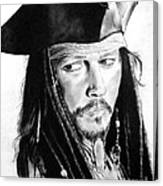 Johnny Depp As Captain Jack Sparrow In Pirates Of The Caribbean Canvas Print