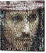Johnny Depp Jack Sparrow Mosaic Canvas Print