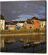 Johns Quay & River Nore, Kilkenny City Canvas Print
