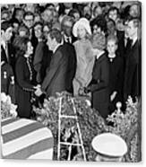 Johnson Funeral, 1973 Canvas Print