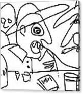 Jose-d Always Get Drunk N Start Tellin Tall Tales Canvas Print