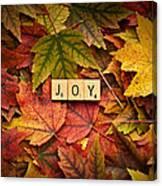 Joy-autumn Canvas Print