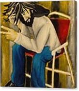 Joy With A Cigarette Canvas Print