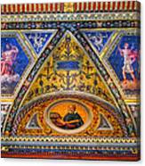Jp Morgan Library Ceiling Detail Canvas Print