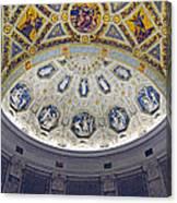 Jp Morgan Library Ornate Ceiling Canvas Print