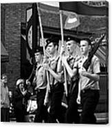 Jrotc Carrying Flag In The Parade Canvas Print