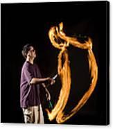 Juggling Fire Canvas Print