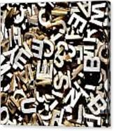 Jumbled Letters Canvas Print