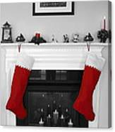 Jumbo Red Stockings Canvas Print