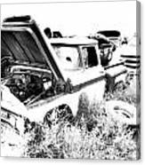 Junkyard Infrared 2 Canvas Print