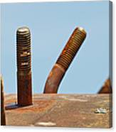 Junkyard Macro No. 11 Canvas Print