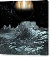 Jupiter From Europa, Artwork Canvas Print