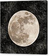 Just A Little Ole Super Moon Canvas Print