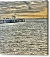 Just Sailing By Grunge Canvas Print