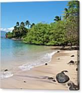 Kahana Beach Canvas Print