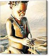 Kalahari Little Boy Canvas Print