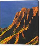 Kalalau Valley Sunset In Kauai Canvas Print