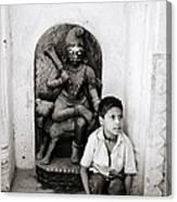 Kali In Benares Canvas Print