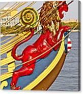 Kalmar Nyckel Red Lion Canvas Print