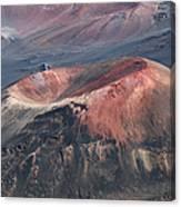 Kamaolii Cinder Cone - Haleakala Crater - View From Kalahaku  Canvas Print
