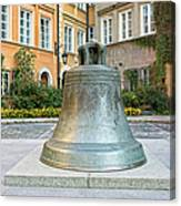 Kanonia Square In Warsaw Canvas Print