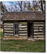Kansas Log Cabin Canvas Print