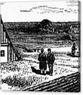 Kansas, Mennonites, C1874 Canvas Print