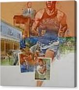 Kansas Track Runner Canvas Print