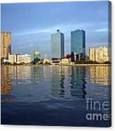 Kaohsiung City Waterfront In The Late Afternoon Canvas Print