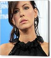 Kate Beckinsale At The Press Conference Canvas Print