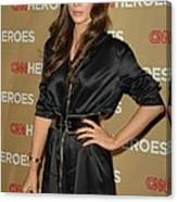 Kate Beckinsale Wearing An Yves Saint Canvas Print