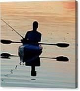 Kayak Fisherman Canvas Print