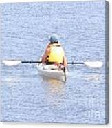 Kayaker Resting On The Water Canvas Print
