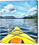 Kayaking In Bc Canvas Print