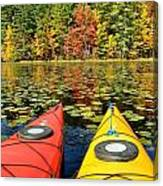 Kayaks In The Fall Canvas Print