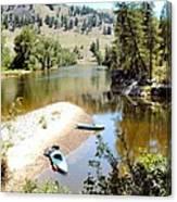 Kayaks On The Kettle Canvas Print