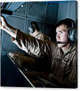Kc-10 Extender Boom Operator Adjusts Canvas Print