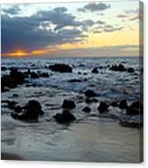 Keaweakapu Beach Sunset Canvas Print