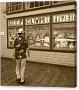 Keeping Clam Since 1938 Canvas Print
