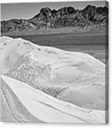 Kelso Sand Dunes 2 Bw Canvas Print