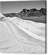 Kelso Sand Dunes Bw Canvas Print