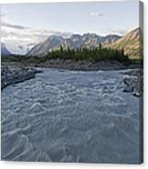 Kennicott River And The Wrangell Canvas Print