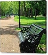 Kensington Park Bench Canvas Print