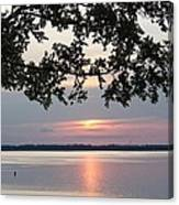 Kentucky Lake At Sunsset Canvas Print