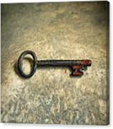 Key With Blood On It. Canvas Print