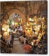 Khan El Khalili Market In Cairo Canvas Print