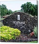 Kiahuna Golf Club Canvas Print