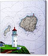 Kilauea Point Lighthouse On Noaa Chart Canvas Print