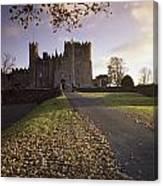Kilkea Castle, Co Kildare, Ireland Road Canvas Print