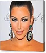 Kim Kardashian At Arrivals For The Canvas Print